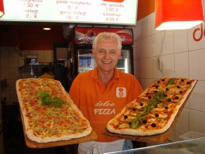 """Con amore"" gefertigte dolce pizza in Moabit | Foto: Top10 Berlin"