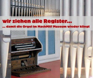 Orgel im Machmit! Museum für Kinder | Grafik: Machmit! Museum